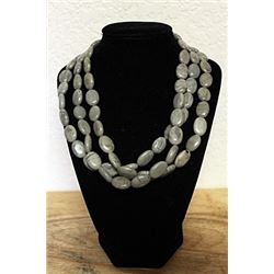 Gray Quartz Necklace