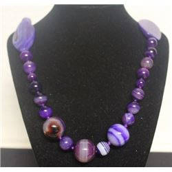 Fancy Purple Jade Necklace (3ZF)