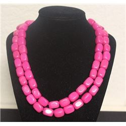Gorgeous Pink Agate Necklace (6ZF)