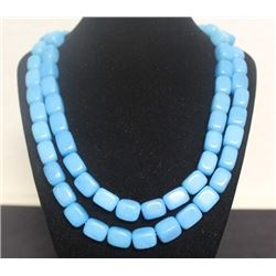 Blue Turquoise Necklace (7ZF)