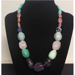 Beautiful Multicolor Agate Necklace (12ZF)