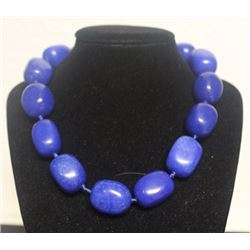 Lady's Blue Agate Necklace (17ZF)
