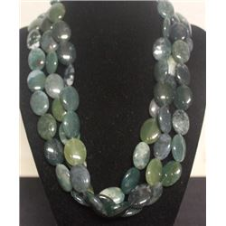 Beautiful 3 String Jade Necklace (44ZF)