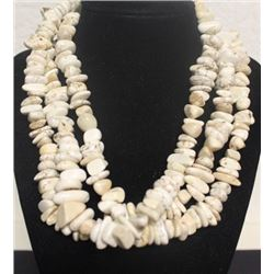 Gorgeous 3 String Puka Shell Necklace (49ZF)