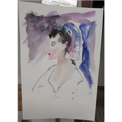 Signed Pino Watercolor
