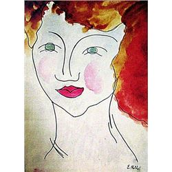 Emil Nolde - Ms Britenny 1840 Watercolor