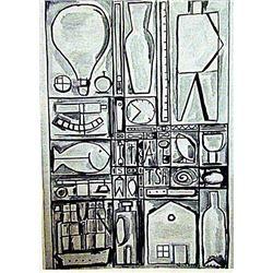 Joaquin Torres Garcia - The House 1930 Watercolor