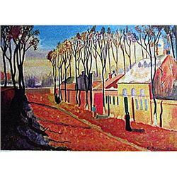 Camille Pissarro - The Enterance to the Village of Voisins