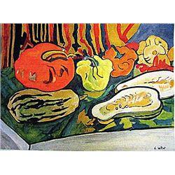 Louis Valtat - Still Life 1930 Watercolor