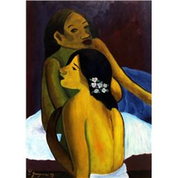 Paul Gaugin - Two Womans 1899 Oil