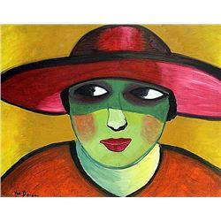 Kees Van Dongen- Woman with Hat 1908 Oil