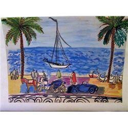 Raoul Dufy - The White Boat Watercolor