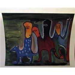 Manuel Mendive - Untitled Watercolor