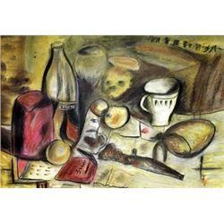 Still Life - Joaquin Torres Garcia - Pastel on paper