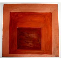 Untitled Oil On Paper - Josef Albers