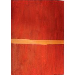 Red - Barnett Newman - Oil On Paper