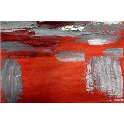 Red - Helen Frankenthaler - Oil On Paper