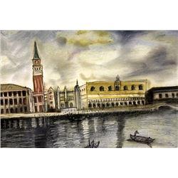 The Tower - Giorgio De Chirico - Pastel On Paper