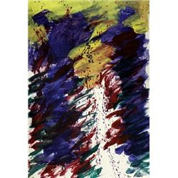 Untitled Oil On Paper - Sam Francis