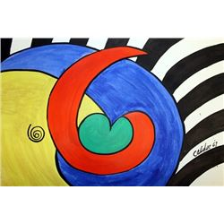 The Flower - Alexander Calder - Oil On Paper