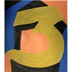 Three - Lajos Kassak - Oil On Paper
