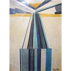 Verticals - Frantisek Kupka - Pastel On Paper