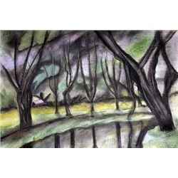 Le Pont Du Coudray - Paul Emile Pissarro