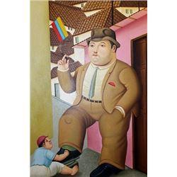 Lustra Botas - Fernando Botero - Oil On Canvas