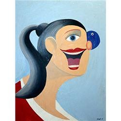 Ms Denisse - George Condo - Oil On Canvas