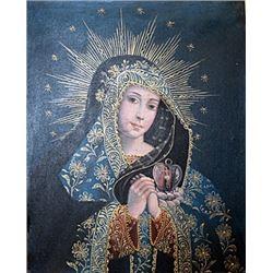 Vigin Mary - Oil On Canvas