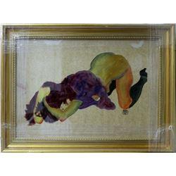 Signed Egon Schiele