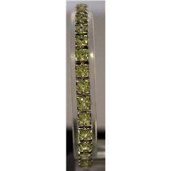 Beautiful Sterling Silver Lab Emerald Bracelet. (26B)