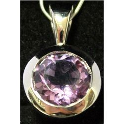 Fancy Sterling Silver Lab Tanzanite Pendant. (48B)  REMOVE ITEM
