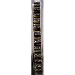 Fancy Sterling Silver Lab Tanzanite Bracelet. (73B)