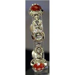 Very Fancy Sterling Silver Multi Lab Gems Bracelet. (136B)