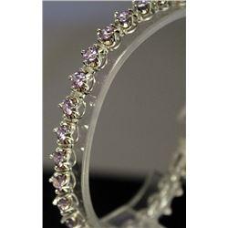Stylish Sterling Silver Lab Tanzanite Bracelet. (145B)