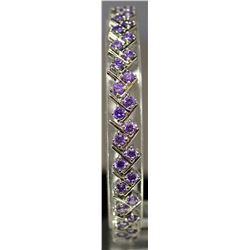 Fancy Sterling Silver Lab Tanzanite Bracelet. (157B)