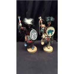 2 Singed Kachina Dolls
