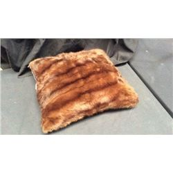 Wild Mink Fur Pillow