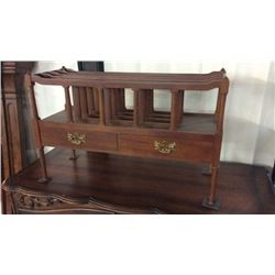 Mahogany Canterbury Display Shelf