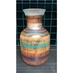 Large Navajo Pottery Vase Signed. 14''t