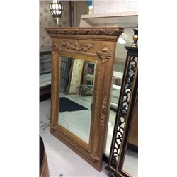 Large Beveled Mirror In Gold Frame. 38''w X 56''t