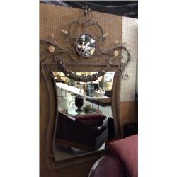 X-Large Metal Frame Mirror