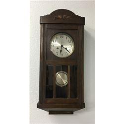 German 8 Day Time & Strike Wall Clock