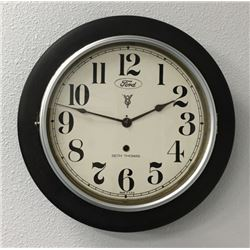 Round Gallery Wall Clock Advertising Ford Cars