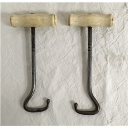 Pair Cowboy Boot Pulls With