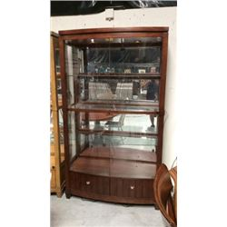 Ash Lighted Glass Curio