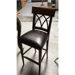 Leather Seat Bar Stool