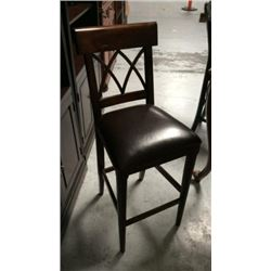 Leather Seat Barstool