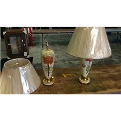 Pair Hand Painted Lamps